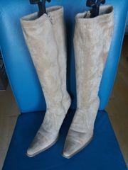 Stiefel beige Gr 38 neuwertig