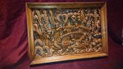 Seltenheit Antik Holzbild Holzskulptur handgeschnitzt