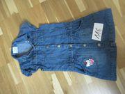 Kleid Größe 116 Jeanskleid Jeans