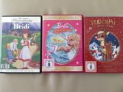3 Kinder DVDs Heidi Barbie