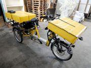 Schwerlast-Dreirad Draisin Lastendreirad Schwerlastrad E-Fahrrad