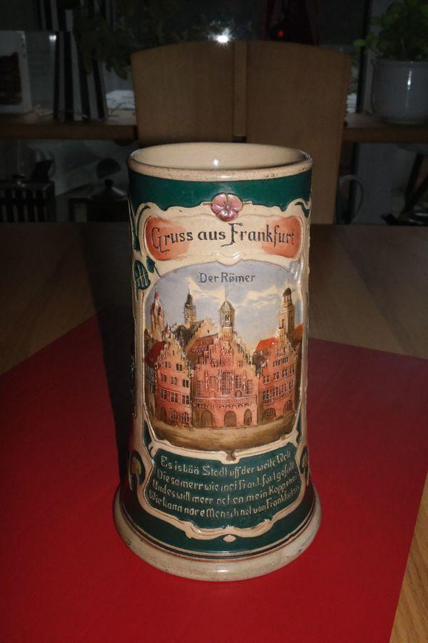 Gruß aus Frankfurt: Origineller Bierkrug aus den 1920/30er Jahren