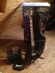Ibanez E-Gitarre mit Verstärker und