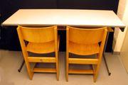 Schultisch mit 2 Stühlen - Fa