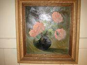 Ölbild Hortensien 1947 Bösch Götzis