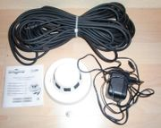 Videoüberwachungskamera Rauchmelder mit Netzteil Videokabel