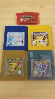 Pokemon Spiele Gameboy 5 Stück