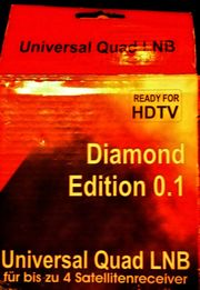 Universal Quad LNB mit Kabel