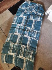 Schlafsack blau weiss Breite 69
