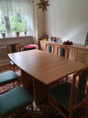 Tisch ausziehbar mit 6 Stühlen