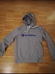 Champion Hoodie Pullover Kaputzenpullover grau