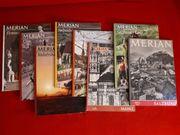 8 ältere Ausgaben der Merian