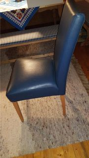 2 x Esstisch Stuhl blau