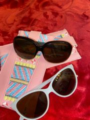 2 Sonnenbrillen Damen plus Etui