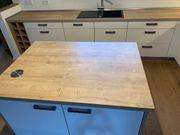 Hochwertige L-Küche mit Mittelblock inkl