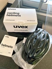UVEX black mat-silver Fahrradhelm NAGELNEU
