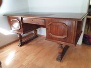 Schreibtisch altdeutsch Nussbaum Wohnzimmer