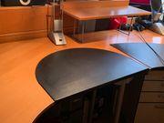 Großer Schreibtisch halbrund