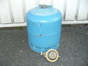 Campinggasflasche blau 3 Kg komplett