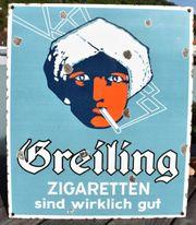 Emailschild Greiling Zigaretten sind wirklich