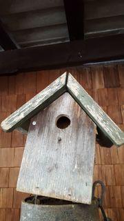 Holz-Vogelhaus mit Tür Größe ca