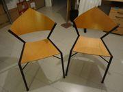2 Stück Designer Stuhl Schwarz