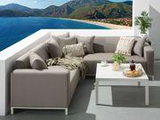 Lounge Set beige 5-Sitzer BELIZE neu