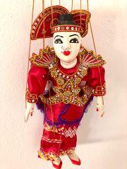 Deko Holzmarionette original aus Myanmar