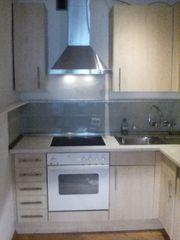 Küchenzeile Nobilia hell Ahorn Optik