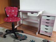 Kinderschreibtisch Rollcontainer Drehstuhl