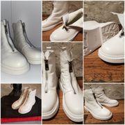 Weiße Schuhe Stiefel Größe 39