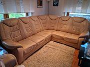 Schöne Ledersofaecke Couchgarnitur mit Sessel -