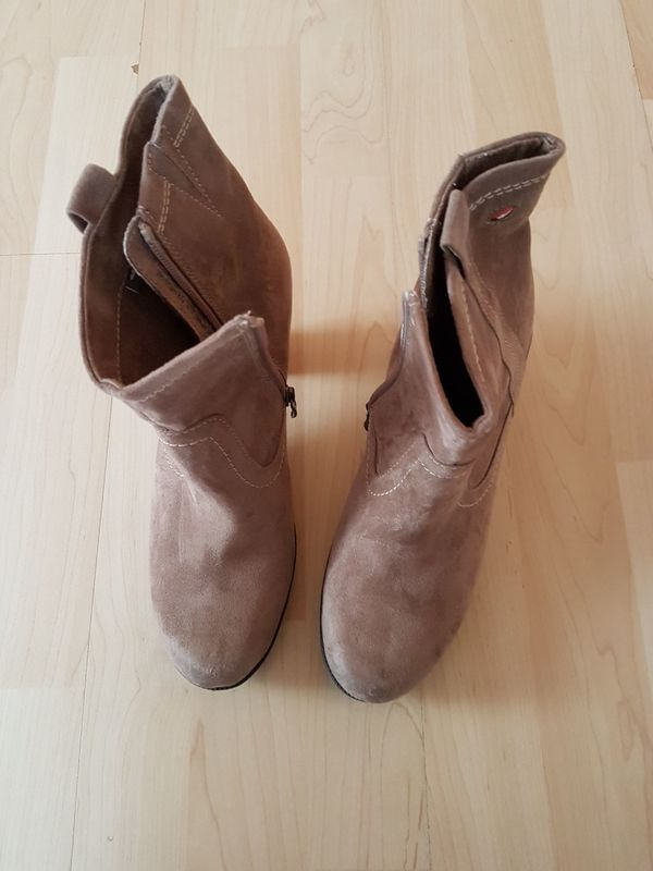 Tamaris Damenstiefel & stiefeletten in Beige günstig kaufen