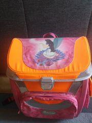 Schulranzen Samsonite Farbe pink-orange-grau teils