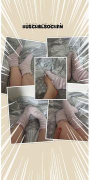 Rosa Socken Kuschelsocken von heißer