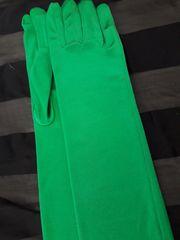 Lange Damen Stretch-Handschuhe Grün- neu