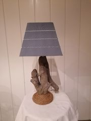 Treibholz Lampe Tischlampe Nachttischlampe
