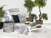 Gartenliege Aluminium Textilbespannung grau CATANIA