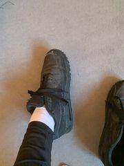 Oft getragene Schuhe mit besonderem