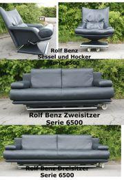 Rolf Benz Garnitur 6500-Zweisitzer Dreisitzer