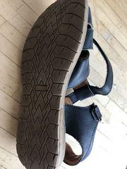 geschlossene unisex Sandale Leder Gr