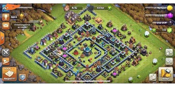 Clash of Clans Rathaus 13 Account/komplett gemaxed/günstiger Preis!