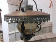 Lampe Schmiedeeisen und Kupfer