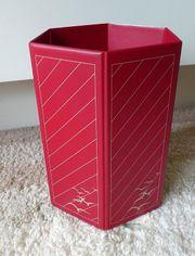 Papierkorb Vintage Veloflex 6 eckig