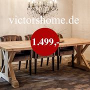 Esstisch Küchentisch Eichenholztisch Landhaus glatt
