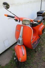 Orange Piaggio Vespa 50 N
