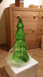 Großer Glastannenbaum mit LED Beleuchtung