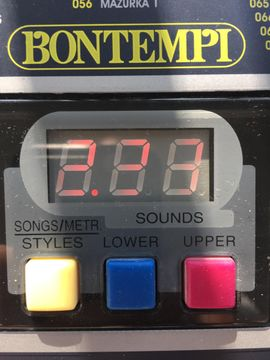 Tasteninstrumente - Keyboard Bontempi PM 68 supersound