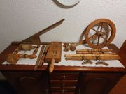 Antik Altes Spinnrad Bausatz 100