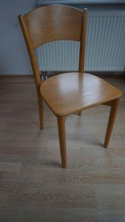 4 Holzstühle aus Buche